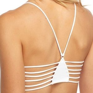 Any 2/$25♥️Free People Strappy Side Bra NWT White